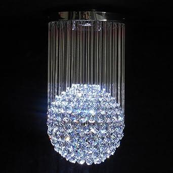 Long drop Fibre Optic Crystal Chandelier   LargeLong drop Fibre Optic Crystal Chandelier   Large  Amazon co uk  . Fibre Optic Ceiling Lights Uk. Home Design Ideas