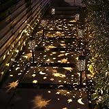 6 Pack Solar Light Outdoor Garden Patio Pathway Landscape Lights Yard Driveway Lawn Walkway Decoration Star Moon Solar Lanter