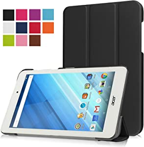 Asng Acer Iconia One 8 B1-850 Case - Ultra Slim Lightweight Standing Cover for Acer Iconia One 8 B1-850 8-Inch Tablet (Black)