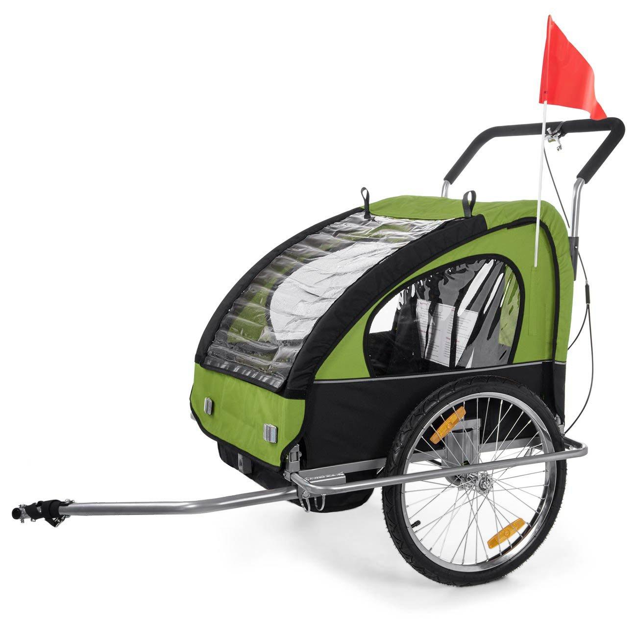 SAMAX - Cochecito infantil para remolque de bicicleta, color green black: Amazon.es: Deportes y aire libre