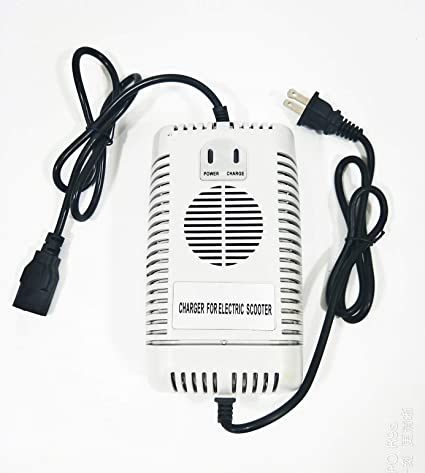 48 Volt 2.5 Amp Electric Scooter Bike Battery Charger PC Plug 48V 2.5A
