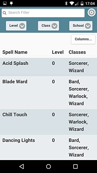 5th Edition Spell List:Amazon com au:Mobile Apps
