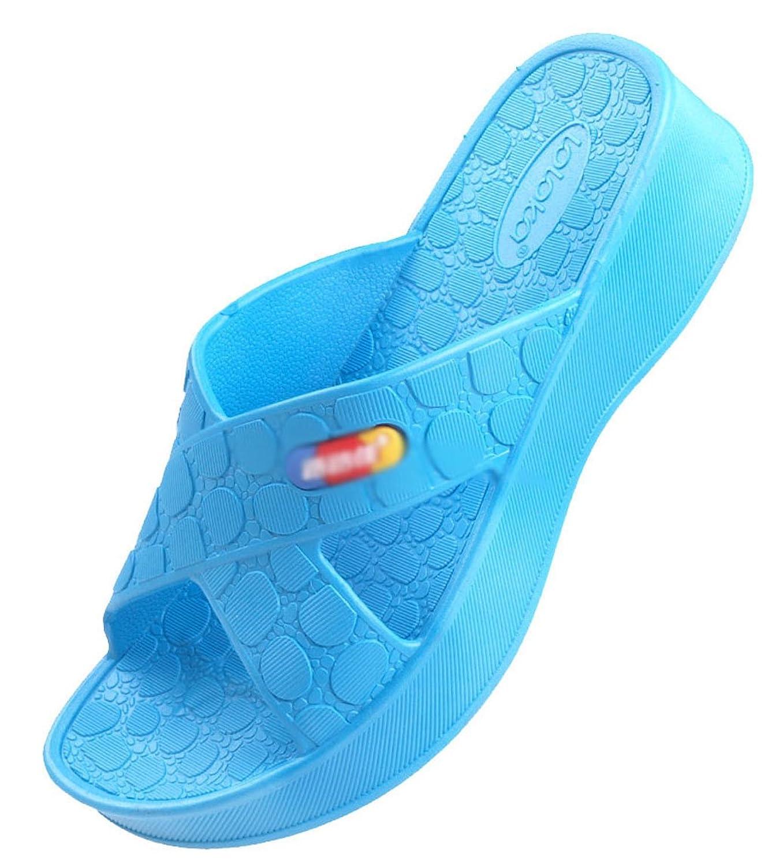Blubi Women 39 S Stone Pattern Open Toe Comfort Shower Slippers Water Sandals Cheap