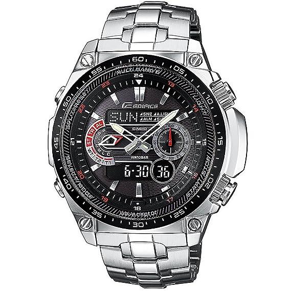 Casio Reloj Analógico-Digital para Hombre de Cuarzo con Correa en Acero Inoxidable CRA006G221G