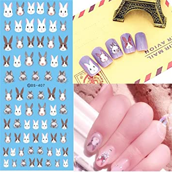 Amazon Miswilsi 2pcs Fashion Diy Kawaii Nail Art Sticker Animal