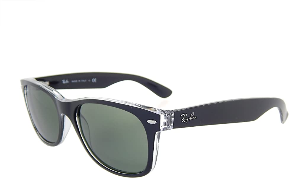 Amazon.com: New Ray Ban RB2132 6052 Black+ Clear/Crystal Green 55mm ...