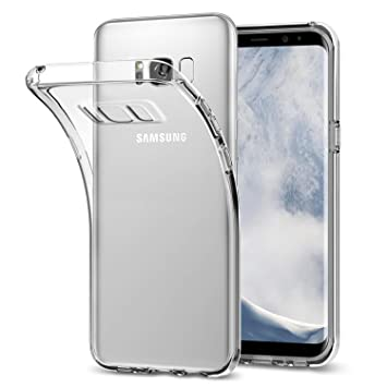 Mture Funda Galaxy S8, Choque Absorción TPU Parachoques Funda Cover Carcasa [Choque Tecnología Absorción] para Samsung Galaxy S8 Transparente