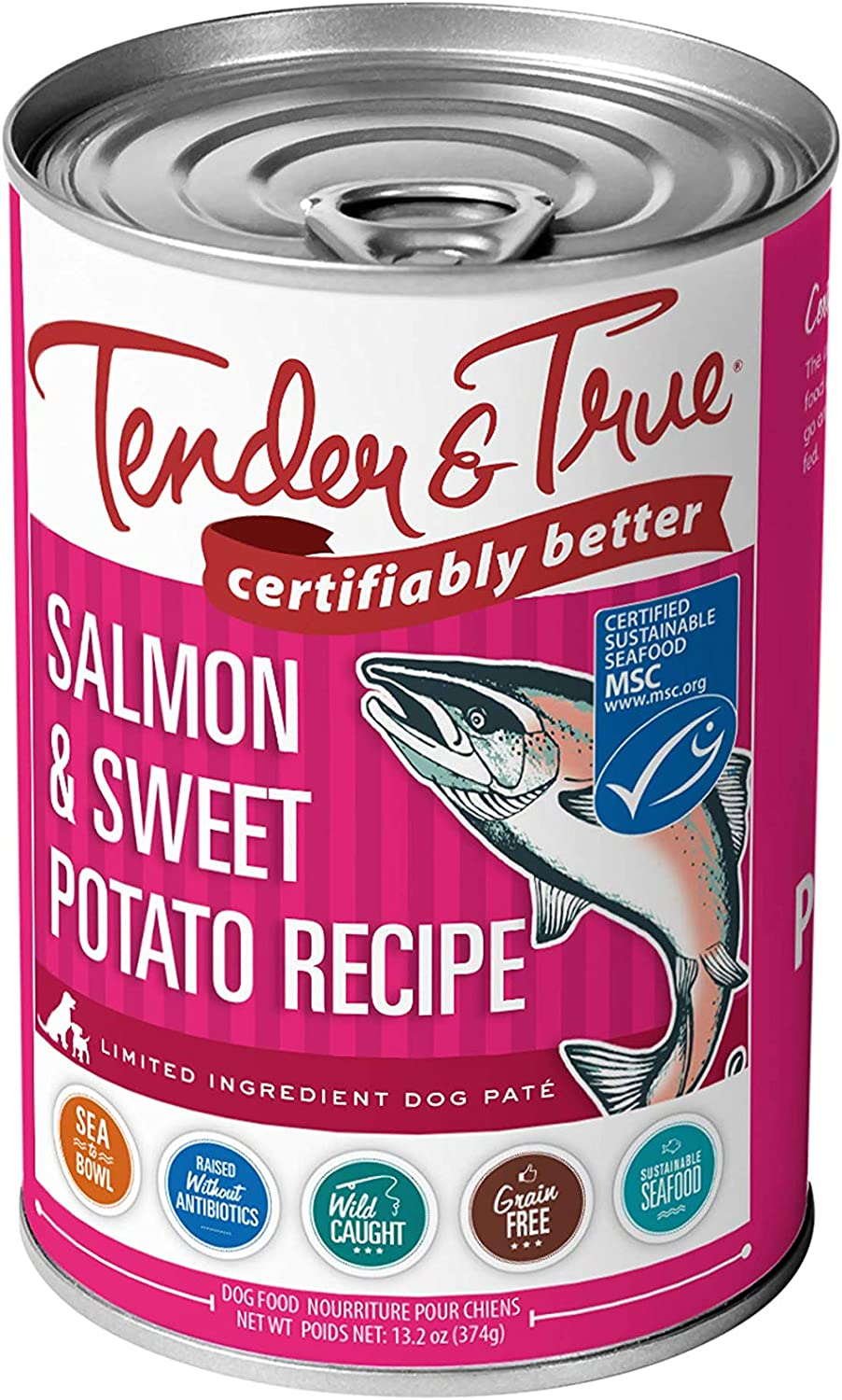 Tender & True Salmon & Sweet Potato Recipe Canned Dog Food, 33031