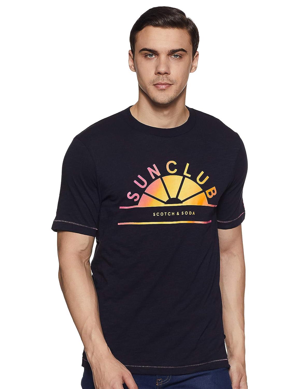 Scotch /& Soda Mens Multicolour Artwork T-Shirt