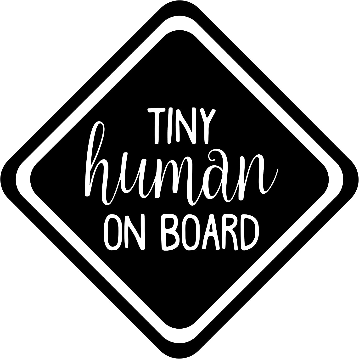 Tiny Human On Board- decal sticker window decal Vinyl Decal car decal