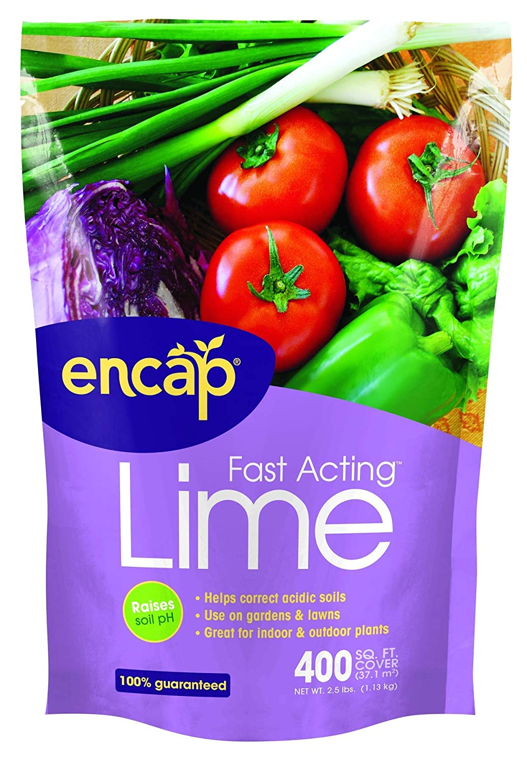 Encap 10612-6 Fast Acting Lime Pouch, 2.5 Pounds, 400-Square Feet