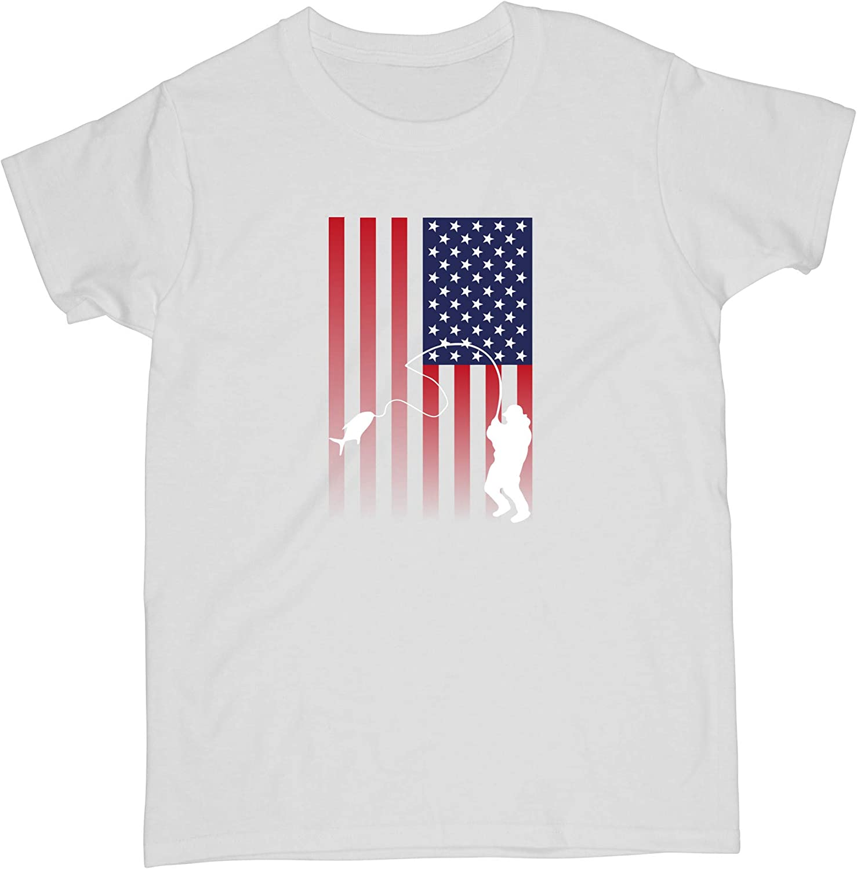 Bass Fishing Flag Womens T-Shirt