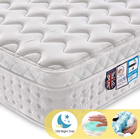 Ej. Life Super King Double Pocket Spring Mattress with Tencel Fabric - Best Orthopaedic Mattress