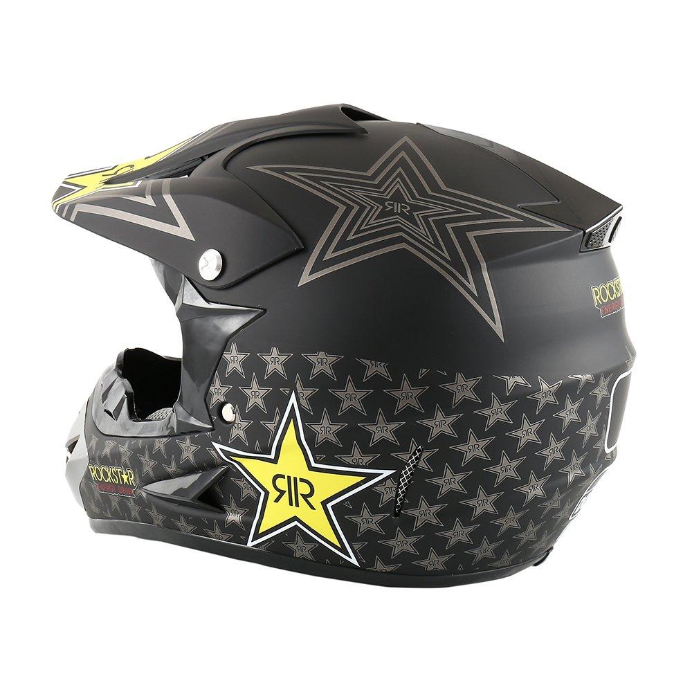 sport 58-59 cm passamontagna e occhiali Casco da moto con guanti offroad enduro motocross cross
