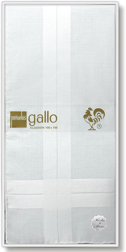 Gal-Lus C-6673C/5 Algodón, Blanco, Tamaño del Pañuelo 48 cm ...