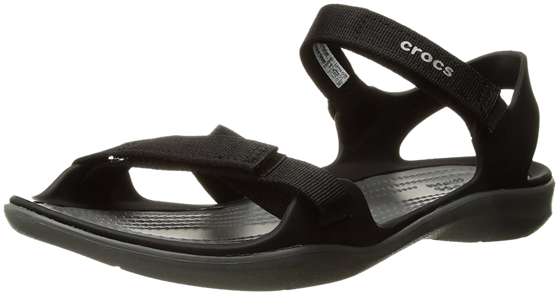 Crocs Women's Swiftwater Webbing Sandal B07BTQZ93C 36-37 M EU / 6 B(M) US|Black