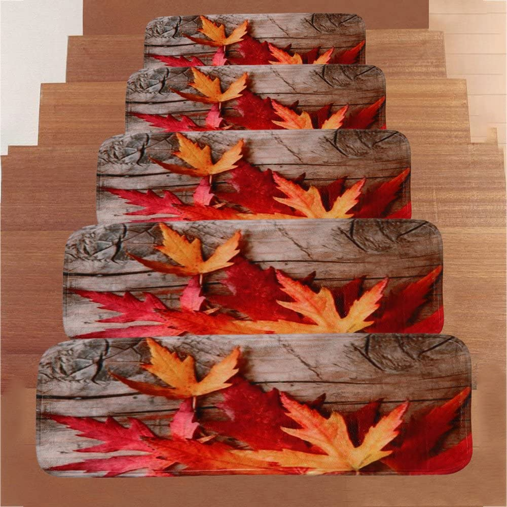 Non-Slip Stairway Carpet Rugs G Clearance Sale Set of 5 Carpet Stair Treads Non Slip//Skid Coral Fleece Runner Mats or Rug Tread Iuhan Indoor Outdoor Pet Dog Stair Treads Pads