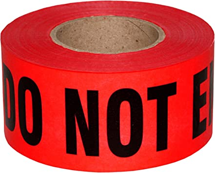 Amazon Com Sharp Red Danger Do Not Enter Tape 3 Inch X 1000 Feet Sharp Red With A Bold Black Print For High Visibility 3 In Wide For Maximum Readability