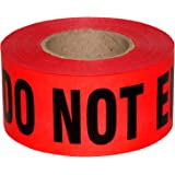 Sharp Red Danger Do Not Enter Tape 3 X 1000 • Sharp Red with a bold Black Print for High Visibility • 3 in. wide for Maximum Readability • Tear Resistant Design