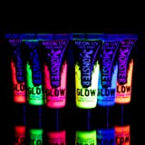 Monsterglow UV Neon Glow Face & Body Paint (6Pack)