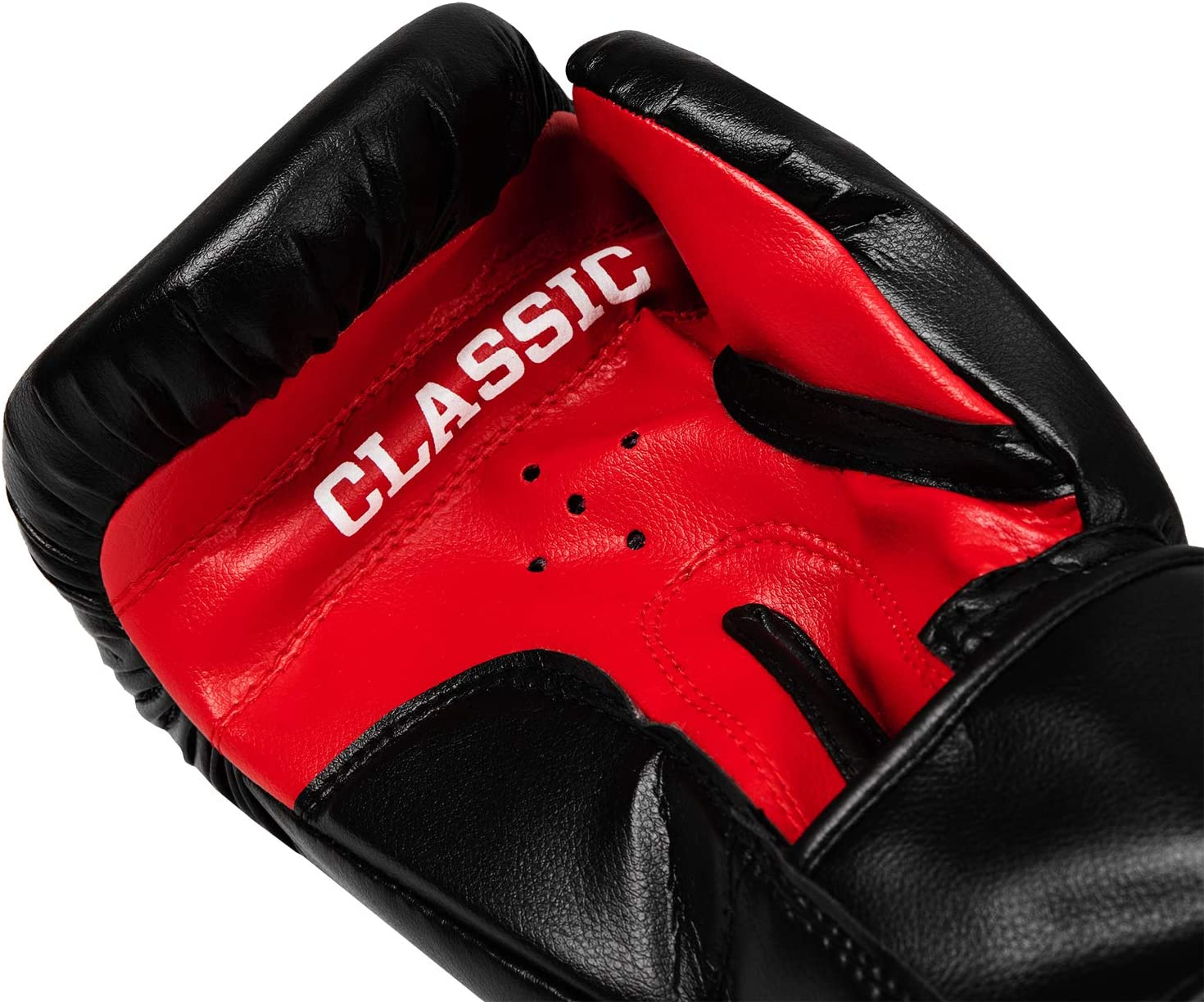 Title Boxing Classic Hook and Loop Vinyl Training Boxing Gloves Black//Red 14oz