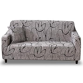 HOTNIU Funda de Sofá Elasticas Universal Fundas Decorativas para Sofas 2 Plazas, Antideslizante Protector/Cubierta de Muebles, Dos Plazas, Modelo_SL