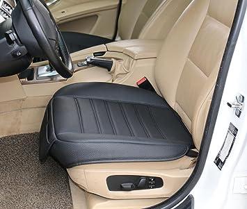 EDEALYN 1 Seat Faux Leather Soft Car Cover Pad Mat Auto Chair Cushion