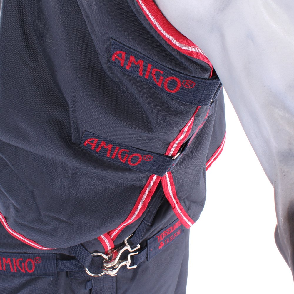 Horseware Amigo Bravo 12 Plus Medium Turnout Rug 6-3 Navy//Red /& Blue