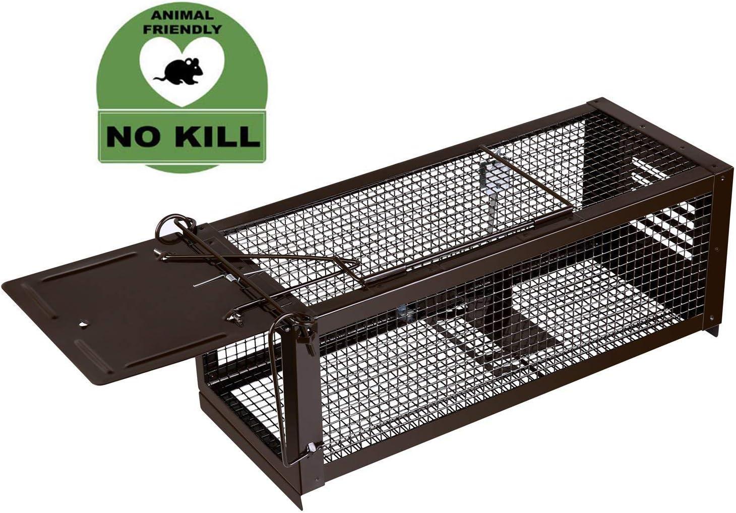 RatzFatz Trampa para ratas Profesional XL 32 x 13 x 13 cm, Sensibilidad ajustable, ideal Para Atrapar Ratones, Ratas y Otros Animales Pequeños Sin matarlos, Humanitario y Reutilizable