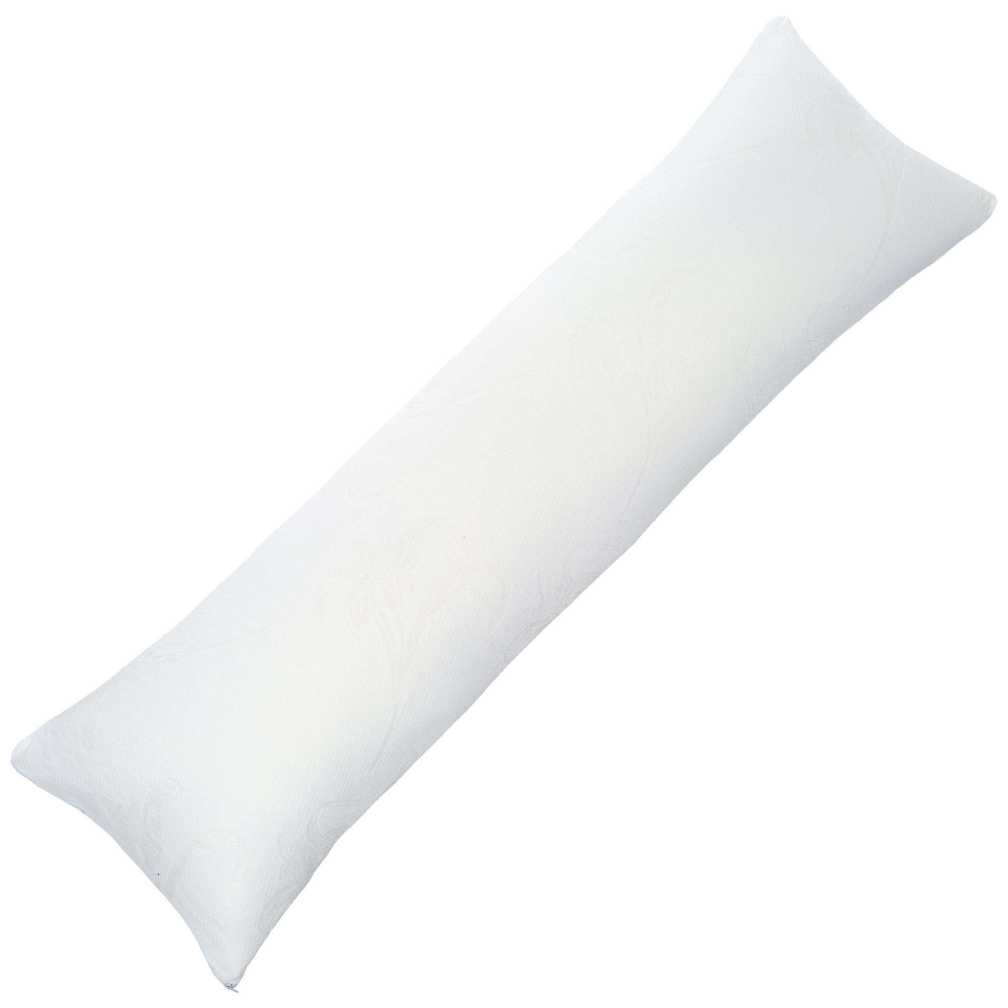 Lavish Home Memory Foam Body Pillow, Bed Pillows for Comfort and Support (Removable Pillow Cover, Hypoallergenic Pillow Protector, 50 inches x 14 inches)