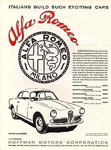 1960 ALFA-ROMEO GIULIETTA COUPE * Italians Build such Exciting Cars * VINTAGE PART-COLOR AD - USA - GREAT ORIGINAL !! (SCI960)