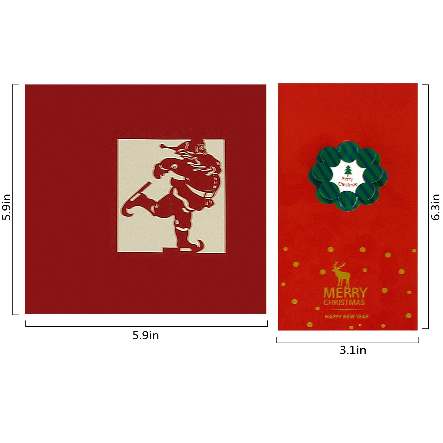Amazon 3d Christmas Cards Pop Up Greeting Cards Funny Unique