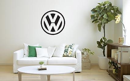 Amazon Com Volkswagen 22 X 22 Car Auto Art Logo Unique Vinyl