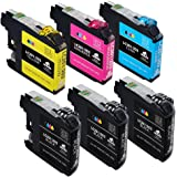 6-Pack IKONG Compatible Ink Cartridge Replacement for LC203XL works with MFC-J5520DW J5620DW J5720DW J4420DW J4320DW J4620DW MFC-J480DW J485DW J460DW J885DW J880DW J680DW Printer