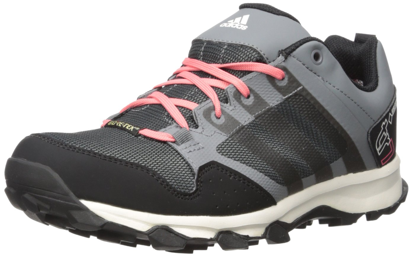 adidas Outdoor Women's Kanadia 7 Gore-TEX Trail Running Shoe, Vista Grey/Black/Super Blush, 9 M US