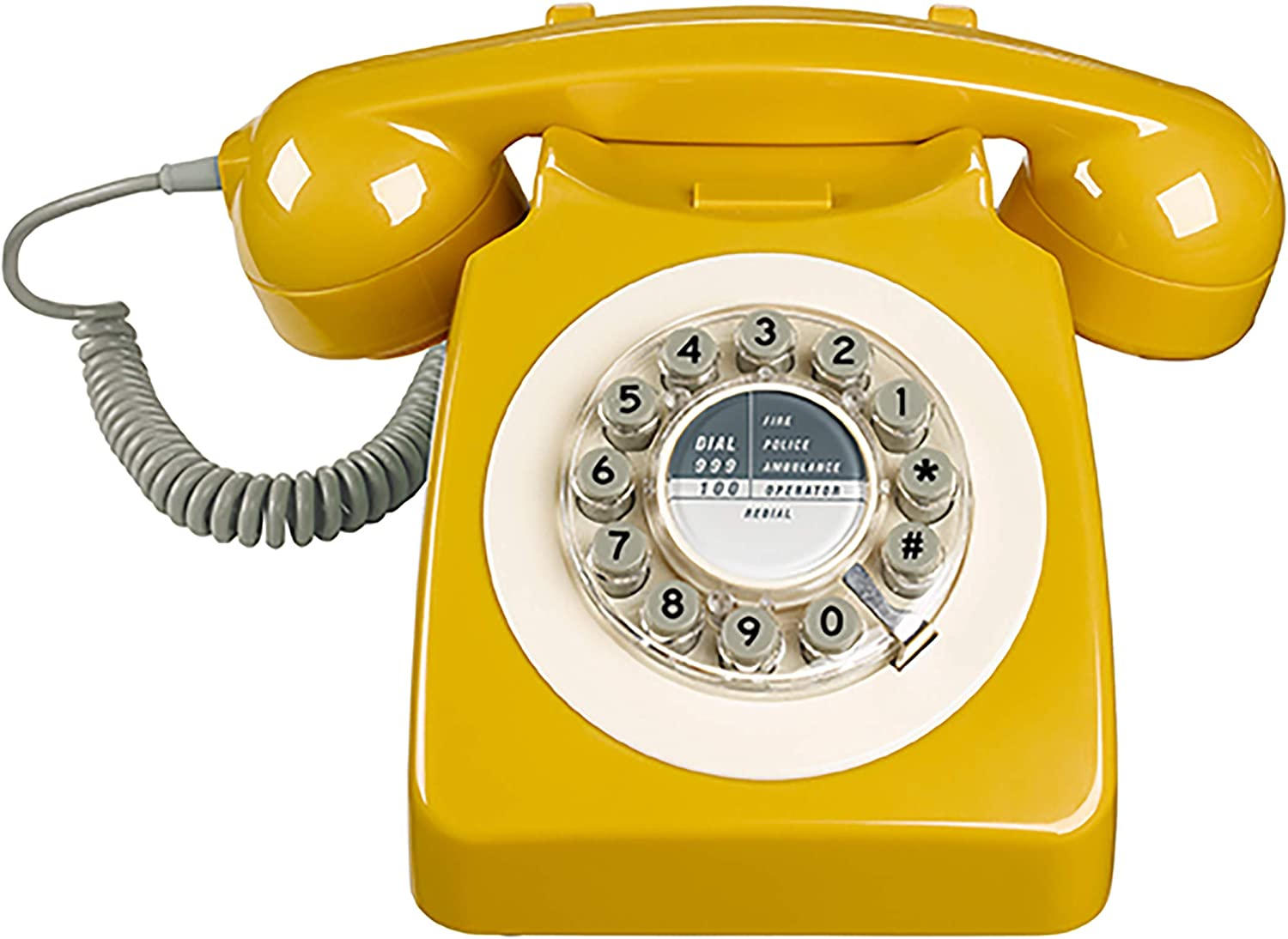 Wild and Wolf Retro 746 Telephone | English Mustard: Amazon.co.uk ...