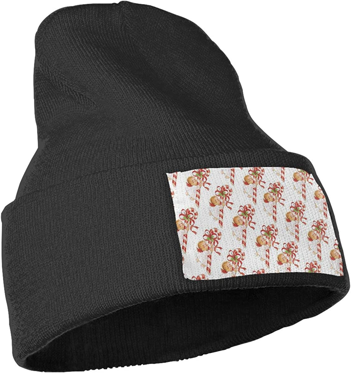 JimHappy Merry Christmas Hat for Men and Women Winter Warm Hats Knit Slouchy Thick Skull Cap Black