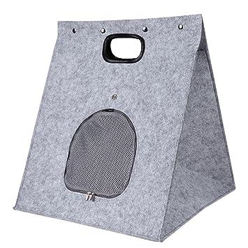 Broadroot Casa de gato plegable de fieltro portátil cama de perro animal cueva nido deformable casa: Amazon.es: Productos para mascotas