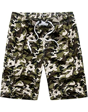 e0c26a291bf Jiayit Mens Holiday Beach Style Men Hawaiian Shorts Swim Trunks Quick Dry  Drawstring Beach Surfing Running ...