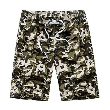 7f95623805879 Homme Été Shorts de Bain Short de Plage avec Cordon Bermuda Séchage Rapide  Imprimé Floral Boxershort