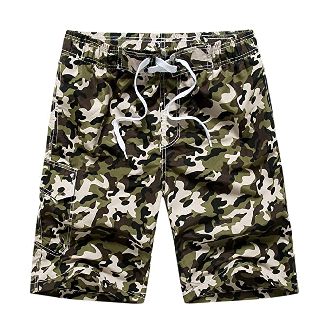 Wolf Casual Summer Surfing Trunks Surf Board Shorts Beach Pants Beach Shorts with Pockets for Men