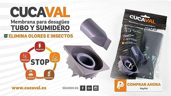 CUCAVAL sumidero sin Olor ni Insectos por Membrana (Solo LA ...