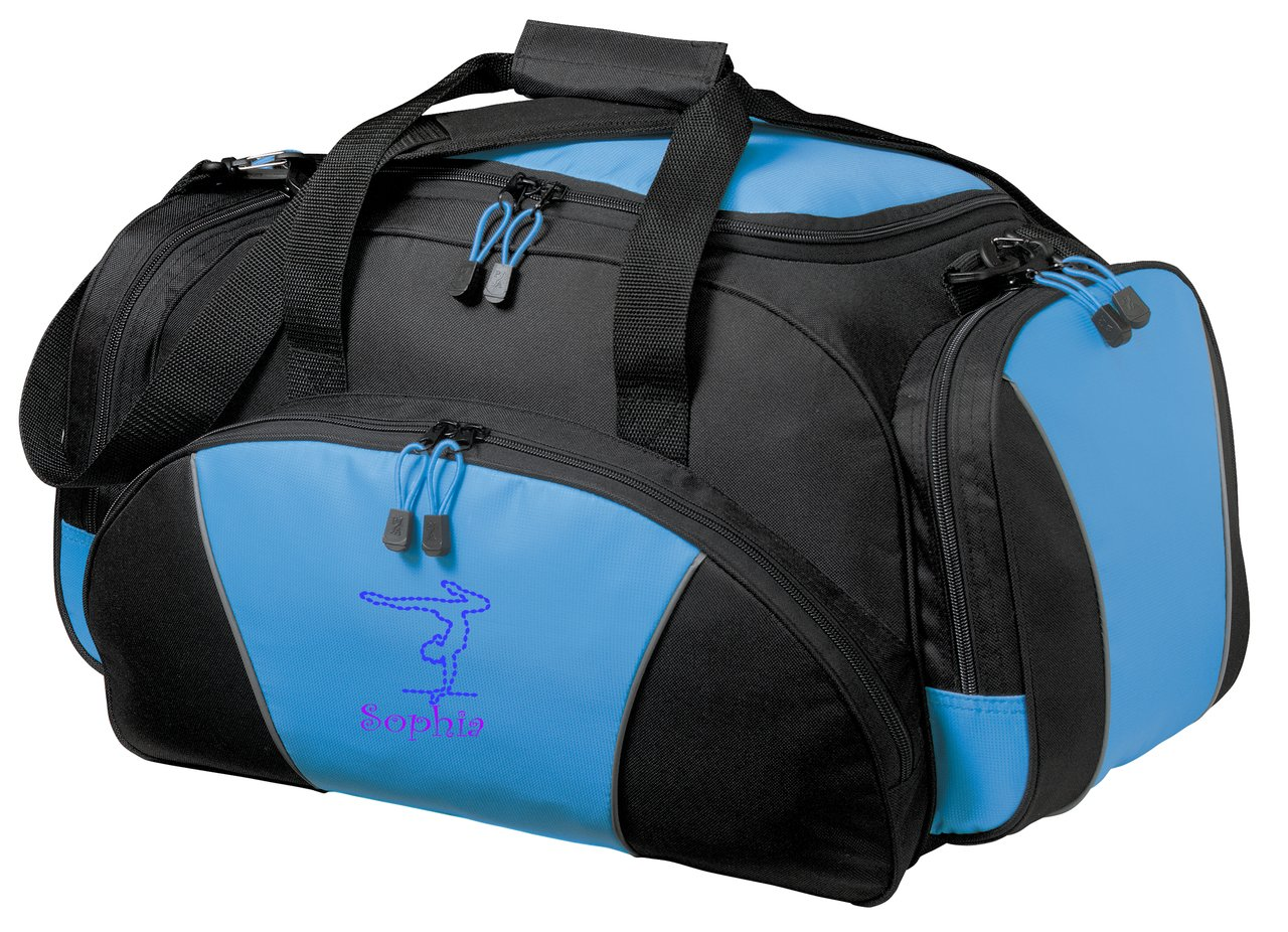 Personalized体操Metroダッフルジムや旅行バッグ B018KWX1QO ライトブルー ライトブルー