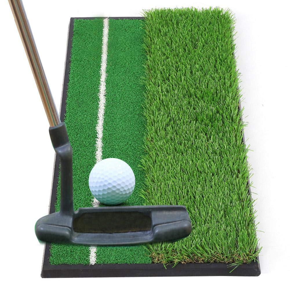 ゴルフトレーニングマット 30cm x 60cm ゴム ミニ ゴルフ ヒットパッド ゴルフ 練習 パッティングマット ゴルファー用   B07LG3DQKN