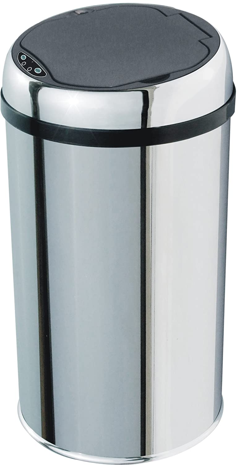 KITCHEN MOVE Automatic Kitchen Waste/Rubbish Bin Stainless Steel with Sensor 25 x 45 cm Stainless steel BAT-12LA AS