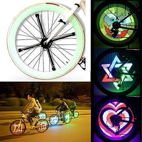 AWFAND - Luces LED para radios de Bicicleta, Luces para vástago de ...