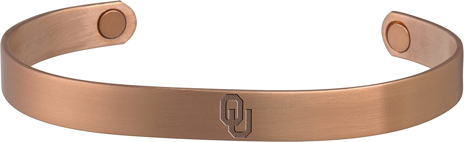 College Jewelry University of Oklahoma Sooners Copper and Magnetic Bracelet