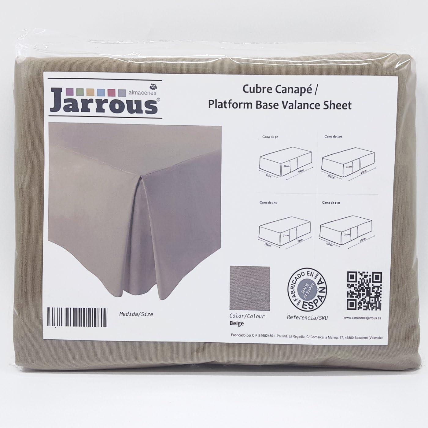 Jarrous Cubre Canapé Modelo Pierre, Color Beige, Medida para Cama de 90