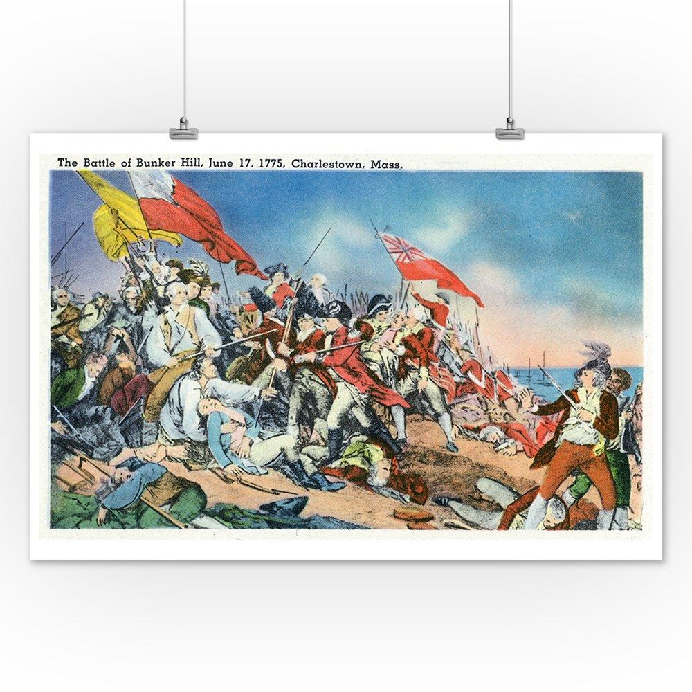 Amazoncom Charlestown Massachusetts Battle Of Bunker Hill Scene