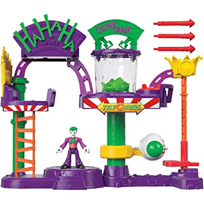 Imaginext Fisher-Price DC Super Friends The Joker Laff Factory, Multi Color, Model:GBL26: Toys & Games
